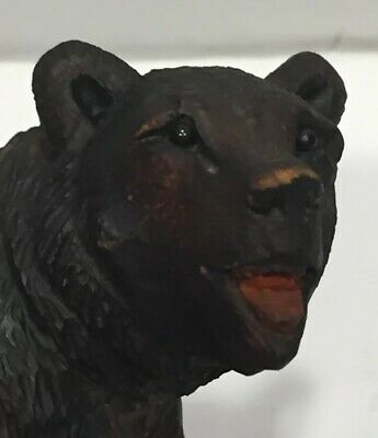 Antique Carved Bear Figurine Wood Carving Brienz Black Forest