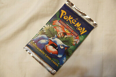 Pokemon Base set Booster Pack - SEALED - SPANISH - UNWEIGHED - Venusaur artwork