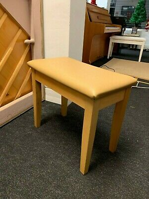 Brand New Boxed Hadley HS-100 Piano Stool with Storage, Light Wood, 70% off