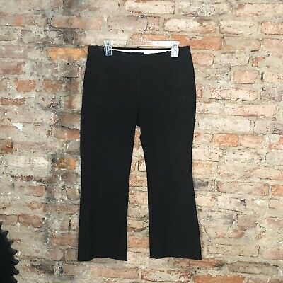 J. Crew Teddie Pants Size 4 Black Cropped Kick Flare Career Casual
