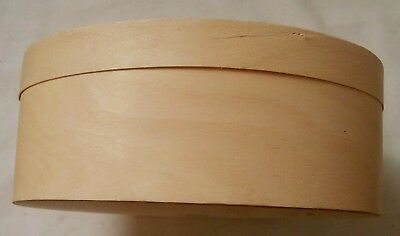 Cedar Wood Band Box Unfinished Ready to Paint Tole Painting 7 X 5 1/2 X 2 1/2 In
