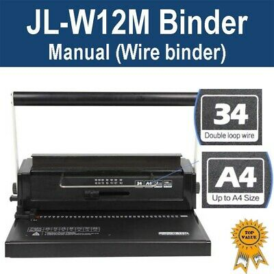 Brand New Office Wire Binder Binding Machine JL-M12W (34 Holes)