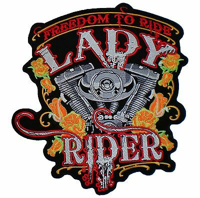 AMERICAN CLASSIC TRADITION Eagle MC Biker Rider Big Embroidered Back Patch 9.6/""