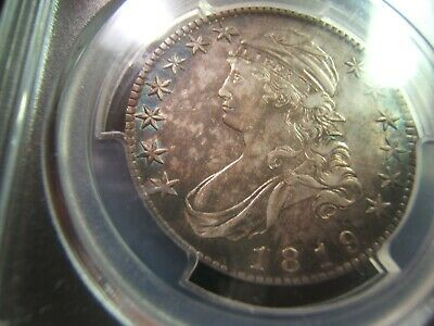 Gorgeous Original 1819 Capped Bust Half PCGS AU53 Fabulous!