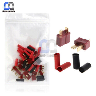 Ultra T-Plug 10/20/50Pairs Male Female Connectors Deans Style with Shrink Tube