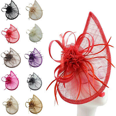 Large Headband and Clip Hat Fascinator Weddings Ladies Day Race Royal Ascot Hats