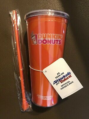 AGT DUNKIN DONUTS America's Got Talent Judge's Mug 22 oz Acrylic Tumbler