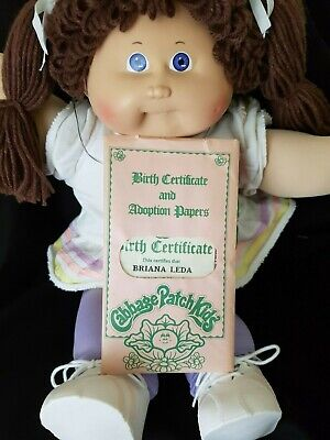 Cabbage Patch Brunette Pigtailed, Girl, Mint Out Of Box