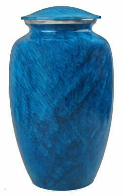 Large Blue Marble Effect Cremation Urns for Human Ashes Adult Funeral Pet Urns