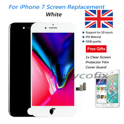 For iPhone 7 LCD Screen Replacement 3D Touch Digitizer Display Assembly White