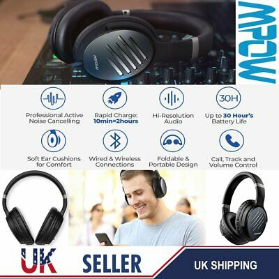 Mpow H16 Noise Cancelling Wireless Headphone Bluetooth Wired Stereo Earset CVC 6