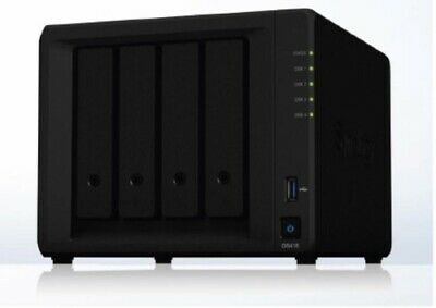 "NEW SYNOLOGY DS418 NAS: 4 BAYS 3.5"" DISKLESS DISKSTATION QUAD-CORE 1.4GHZ 2G.f."