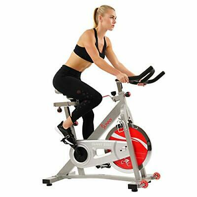 Sunny Health & Fitness Pro Indoor Cycling Bike with 40 LB Chromed Belt
