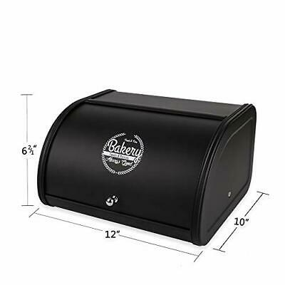 Hot Sales X458 Metal Bread Box/Bin/kitchen Storage Containers with Roll Black