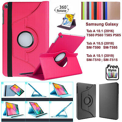 360 Smart Stand Leather Case Cover For Samsung Galaxy Tab A T510,T515 T580,T585