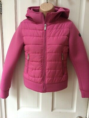 Girls Geox Respira Jacket Size 12 Pink Padded Hooded New Condition