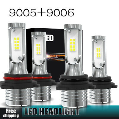 9006+9005 LED Headlight 160W 3200LM Hi-Lo Beam Combo Kit 6000K HID Lamp Power