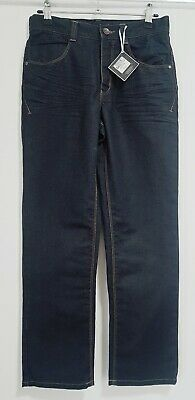 Boys Clothes Age 12 Yrs M&S Autograph Regular Dark Indigo Jeans Adjustable Waist