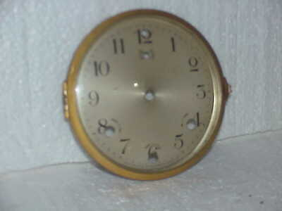 "Used 5 ½ ""Waterbury Cast Brass Mantle Clock Westminster Dial & Bezel part rep Q"