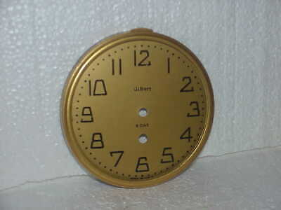 "Used 5 3/4"" Gilbert Mantle Clock Dial & Bezel Parts parts repair P"