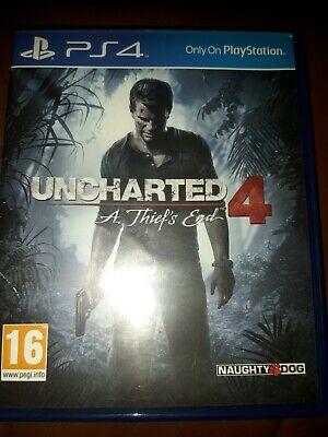 Uncharted 4 A Thiefs End PS4 NEW  DISP. BY 2 P.M.USED ONLY ONCE