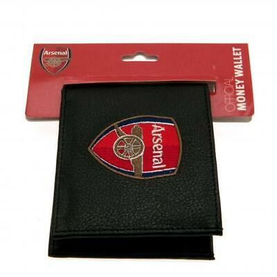 Arsenal F.C. Embroidered Black PU Wallet - Official AFC Club Merchandise