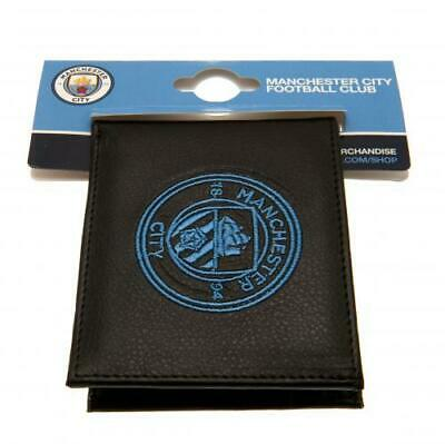 Manchester City F.C. Embroidered Black PU Wallet  Official MUFC Club Merchandise
