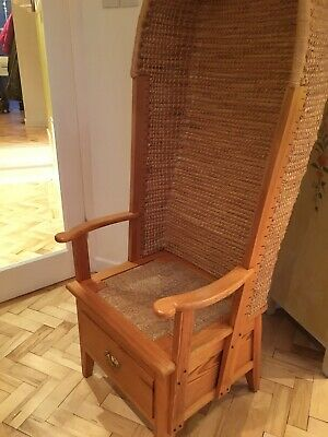 20th Century Hooded Pine Orkney Chair Robert Towers