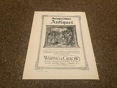 """(Aabk18) Antiques Advert 11X8"""" Waring & Gillows Oxford St London, Tapestry Panel"""