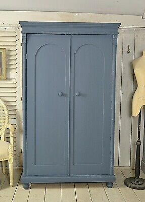 Shabby Chic Rustic Dutch Vintage Wardrobe (Blue) - Free UK Delivery!