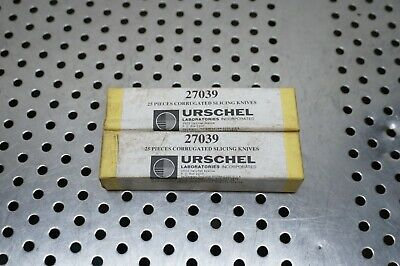 Urschel corrugated blades # 27039 (25 slicing knives in a box) (2 boxes)
