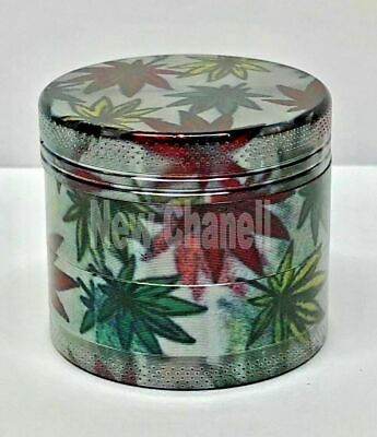 New LEAF Grinder 40mm 4 Part Leaf Metal Herb Magnetic Grinder Pollinator Crusher