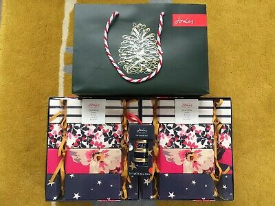Joules 4 x Cracker Gift Set Fizzer Hand Cream Lip Balm Soaps