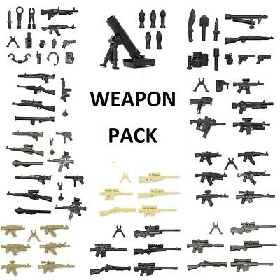 WEAPON PACK - for Lego Military Minifigures - GUNS KNIVES GRENADE RIFLE