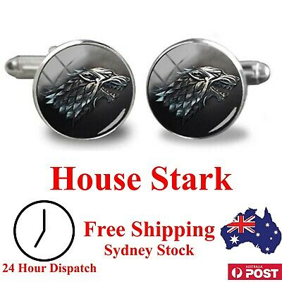House Stark Cufflinks - Game of Thrones - Novelty for Suit, Gift Present