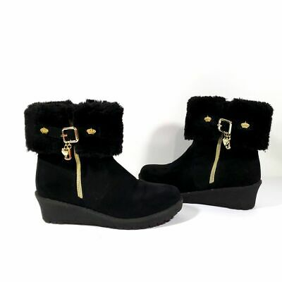 Girls Juicy Couture (Kohl's) Black Booties Size 3