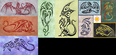 FIRE WING DESIGNS BY EVA HORNE Cross Stitch Patterns YOU CHOOSE Dragons