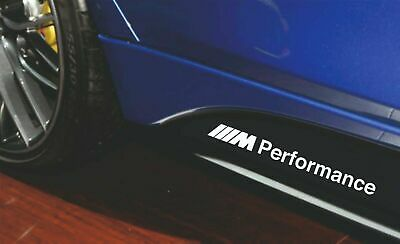 BMW performance 2x Decals stickers vinyl for rocker panel sport power racing 3m