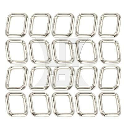 20Pcs 2cm Rectangle Ring Metal Buckles Silver for DIY Leather Hand Bag