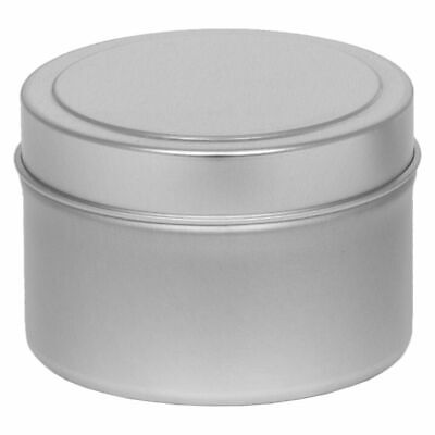 24 x Silver 4OZ Candle Tins
