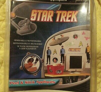 Star Trek 31 Classic Peel and Stick Wall Stickers Appliques Decals NIPack HTFind
