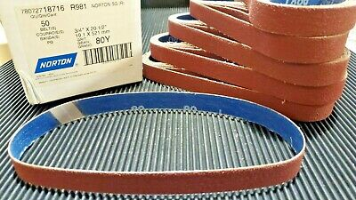 "NORTON 78072787746 1-3//8/""X90/"" 100 GRIT R962 SANDING BELTS 10PER BOX"