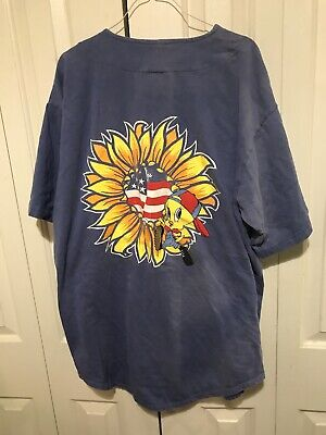 1995 Vintage Tweety Sunflower Baseball Jersey XL Mens Looney Tunes Warner Bros