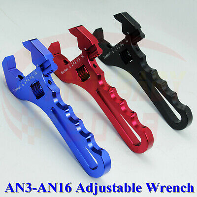 Adjustable AN 3AN 4AN 6AN 8AN 10AN 12AN 16AN Wrench Fitting Adapter Tool Spanner