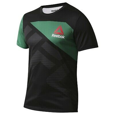 Mens Reebok Crossfit UFC Jersey Black/Green T-Shirt (TGA42) RRP £29.99