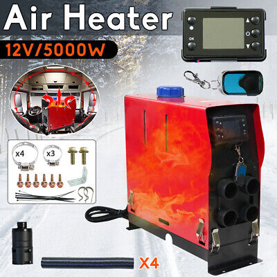 5KW 12V All IN Diesel Air Heater Thermostat For Caravan Vehicles Wagons Truck AU
