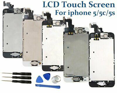 LCD Touch Screen Display Digitizer Home Button Replacement for iPhone 5/5C/5S
