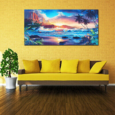 Beach Sea Sunset Modern Canvas Print Painting Wall Art Picture Home Room Decor