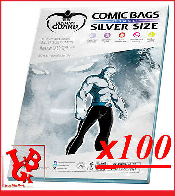 Pochettes Protection Silver Size REFERMABLES comics x 100 Marvel Urban Panini