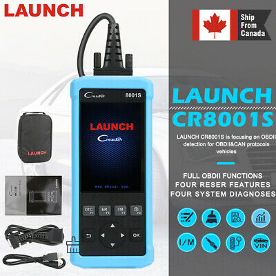 LAUNCH CR8001S OBD2 Diagnostic Tool Scanner Code Reader ABS SRS EPB As CRP129